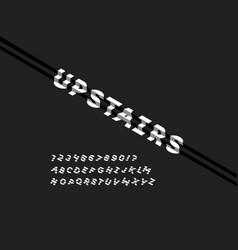 Upstairs font alphabet vector