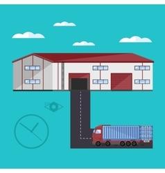 Warehouse exterior vector image