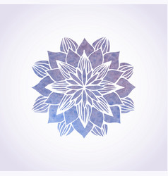 watercolor violet lace pattern element vector image
