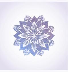 Watercolor violet lace pattern element vector