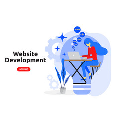 Website development concept modern flat design vector