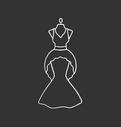 wedding dress chalk icon vector image