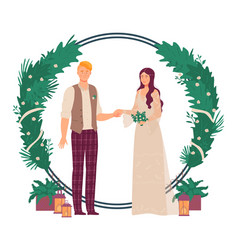 Wedding floral decoration vector