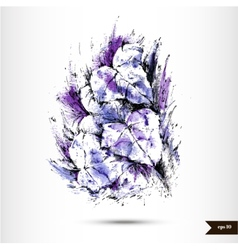 Abstract hand drawn watercolor background vector image