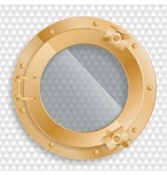 antique brass porthole on a transparent background vector image
