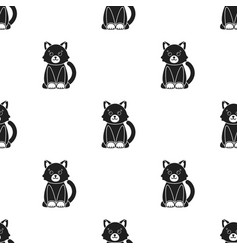 cat black icon for web and mobile vector image vector image