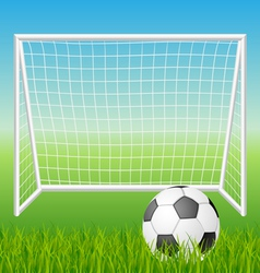 Football goal with ball vector