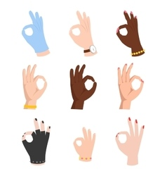 Hands symbol ok vector