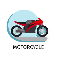 motorcycle in flat style vector image vector image