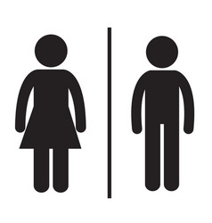 pictogram man and woman vector image vector image
