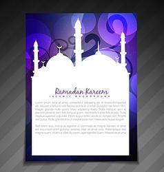 stylish ramadan template vector image
