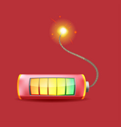 battery time bomb logo symbol vector image