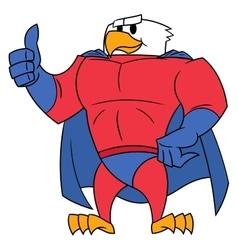 Eagle superhero thumb up gesture vector image vector image