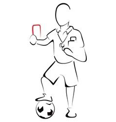 Football referee vector image vector image