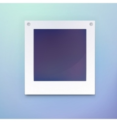 Photo frame or blank picture for background vector image vector image