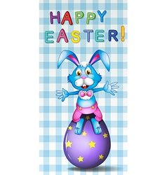 A happy easter card vector image