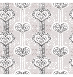 Abstract cute heart pattern vector image vector image