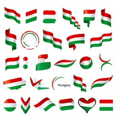 biggest collection of flags of Hungary vector image