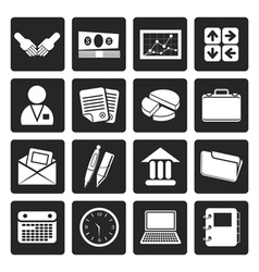 Black Simple Business and office icons vector image vector image
