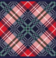 diagonal tartan seamless texture in various colors vector image