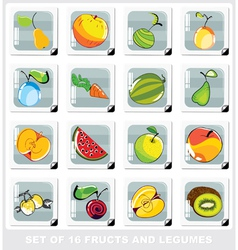 fruits and legumes vector image vector image