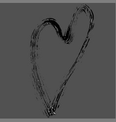 heart shape design for love symbols hand drawn vector image vector image