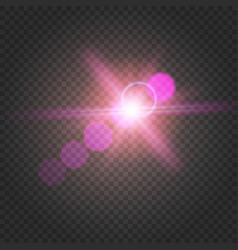 abstract shiny flare on transparent background vector image