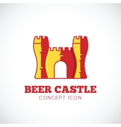Beer Castle Concept Symbol Icon vector image