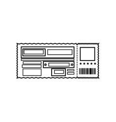 entrance ticket paper vector image vector image