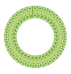 green money round frame vector image