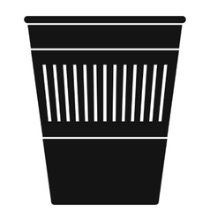 Plastic office waste bin icon simple style vector image vector image