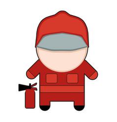 profession character fireman vector image