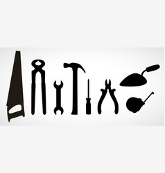 set of icons of building tools vector image vector image
