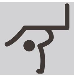 2276 Gymnastics Rhythmic icon vector