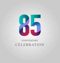 85 year anniversary celebration template design vector