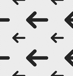 Arrow left Way out icon sign Seamless pattern with vector image