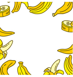 banana fruit frame empty template vector image