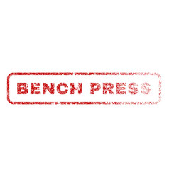 Bench press rubber stamp vector