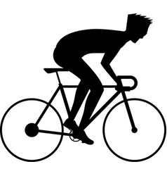 Bicycle race boy vector