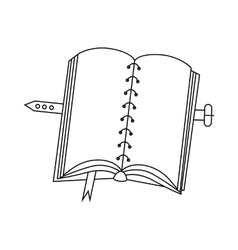 Book with cover icon outline style vector