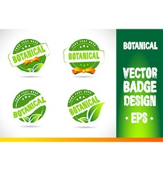 Botanical Badge vector image