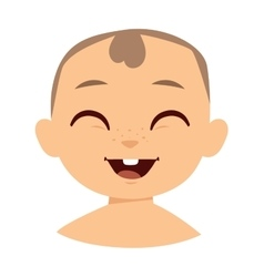 Boy smile face vector image