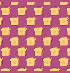 breads background design vector image