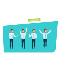 Businessman in strict work clothes in various vector