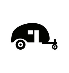 camping trailer icon design template isolated vector image