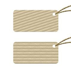 cardboard tag vector image vector image