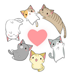 Cat kawaii vector