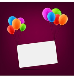 Celebrate card background with balloons vector image