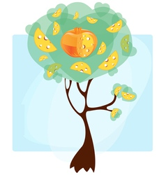 cheese tree vector image
