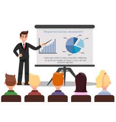 Confident business coach color vector